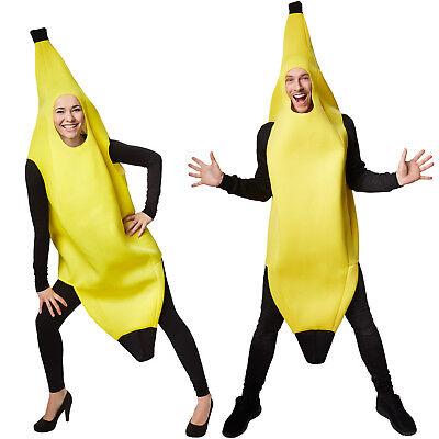 Kostüm Banane Unisex Halloween Karneval Fasching Damen Herren Obst Gemüse Frucht