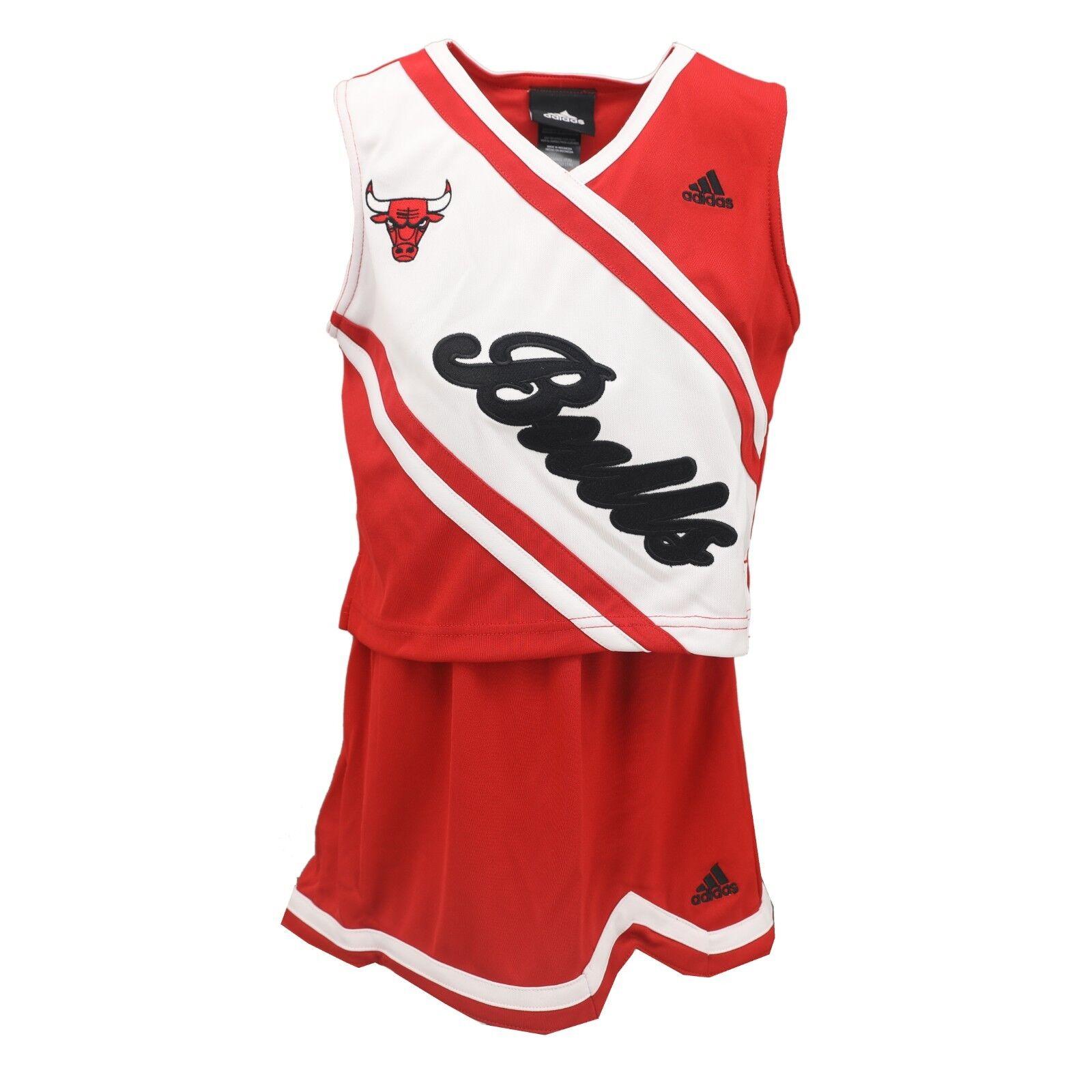 35de15a060e Chicago Bulls NBA Adidas Kids Youth Girls Size 2 Piece Cheerleader Outfit  New