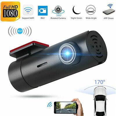 Wireless 1080P HD Wifi Hidden Car DVR Camera Dash Cam G-Sensor Video Recorder US