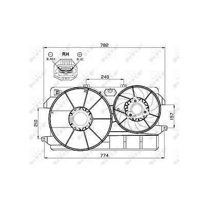 Genuine NRF Engine Cooling Radiator Fan - 47451