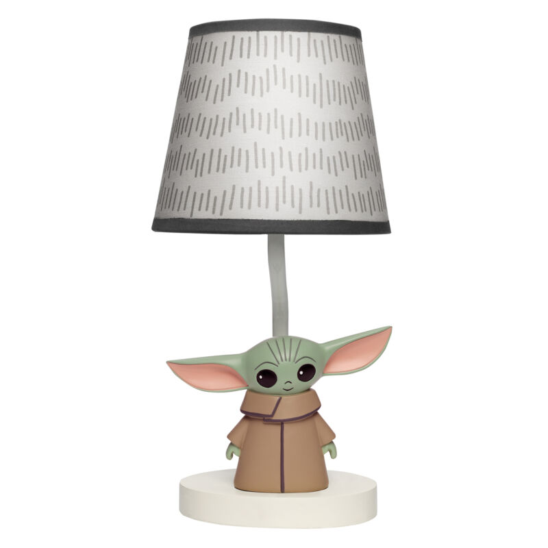 Lambs & Ivy Star Wars The Child/Baby Yoda Nursery Lamp with Shade and Bulb