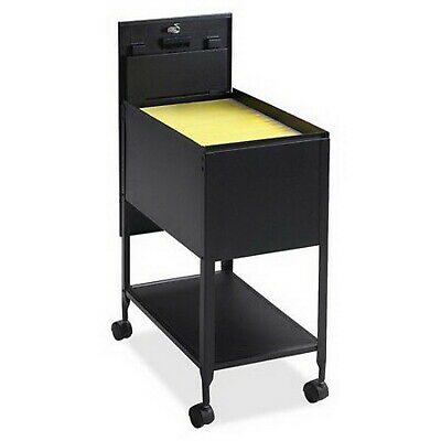 Office File Cabinet 1 Drawers Filing Cart Steel Lockable Black Rolling Organizer