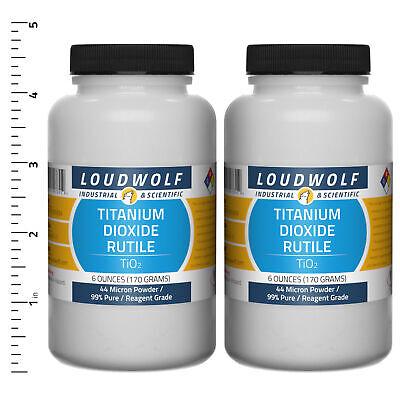 Titanium Dioxide Rutile 12 Oz Total 2 Bottles Reagent Grade 44 Micron Powder