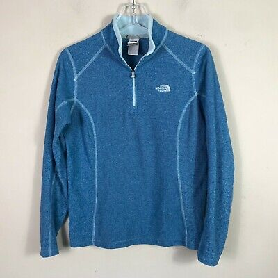 The North Face Fleece Jacket 1/2 Zip Long Sleeve Pull Over Blue Women's M EUC