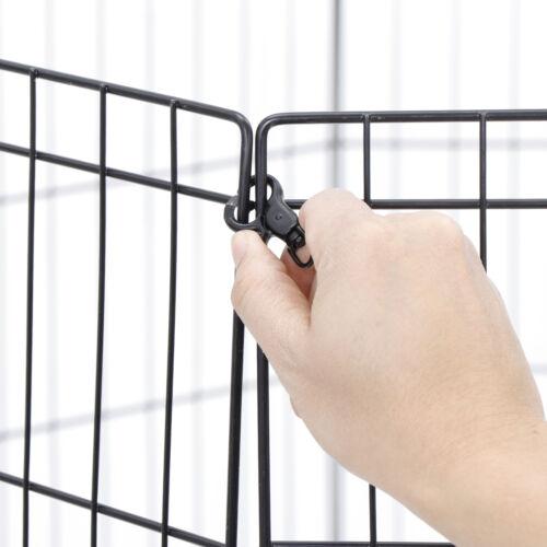 8 Panel Pet Playpen Metal Protable Folding Animal Exercise Dog Fence 42″ Kennel Dog Supplies