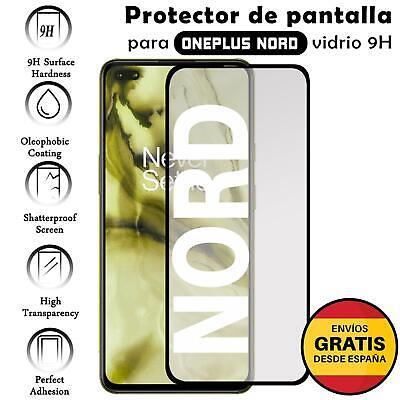 Protector de Pantalla para OnePlus Nord Negro cristal templado 3D Completo