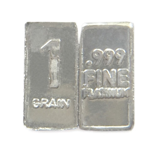 1 Troy Grain PLATINUM Bullion Micro Bar Pure.999 Fine Fast Free USA Shipping