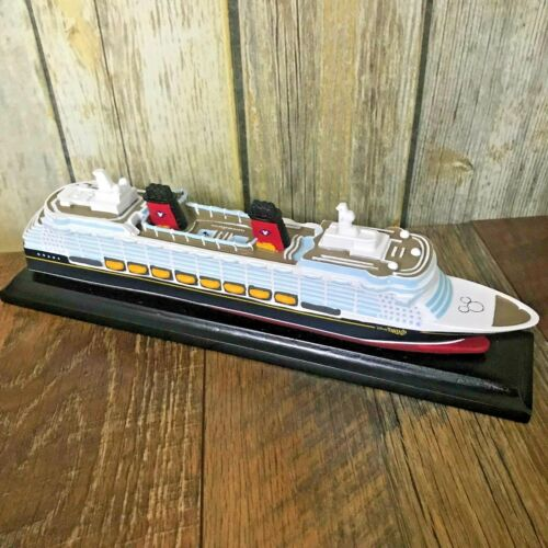 NEW Disney Cruise Line Fantasy Ship Model Figure Replica DCL Boat Wooden Decor