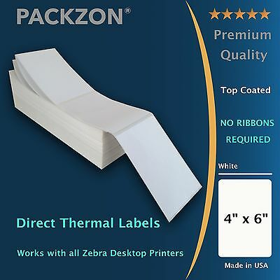 2000 4x6 Fanfold Direct Thermal Shipping Labels W Top Coating Packzon