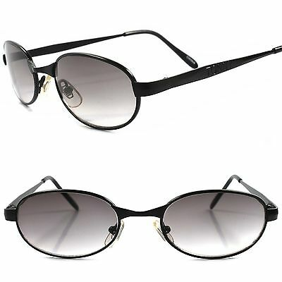 Classic True Vintage 80s 90s Urban Old Fashion Mens Black Rectangle Sunglasses