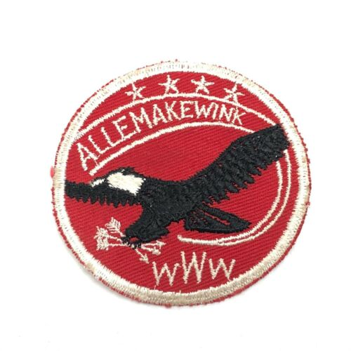 Vintage 1950s Allemakewink round Boy Scout patch