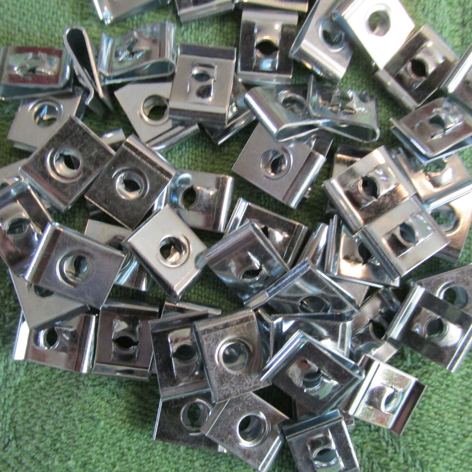 6-Stück Edelstahl VA Schnappmutter 596 A2 Blechmuttern Clips-Nut M4 5mm 6mm  8mm