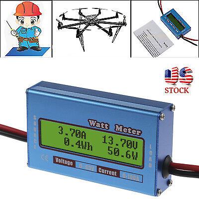 Digital Lcd Monitor Watt Meter 60v100a Dc Ammeter Rc Battery Power Amp Analyzer