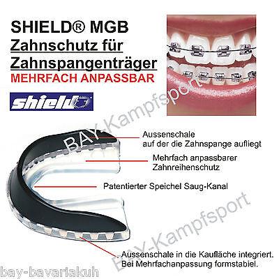 SHIELD® WILSON MGB Zahnschützer für Zahnspangen Zahnklammern Mundschützer Dose
