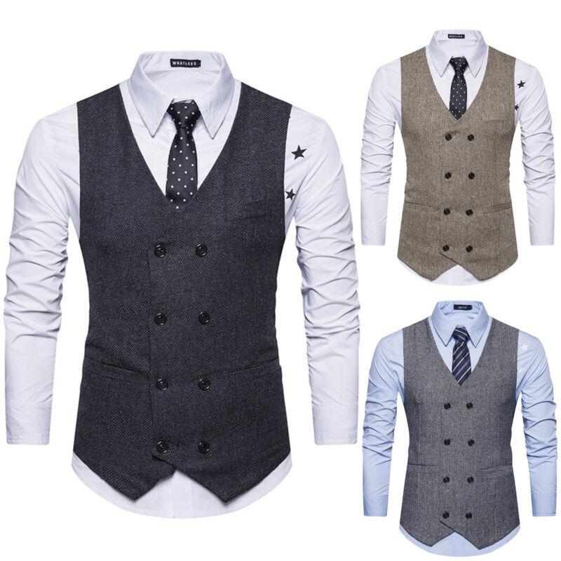 Herren Casual Business Anzug Slim Fit Blazer Sakko Jacken Anzug Sweatjacke Weste