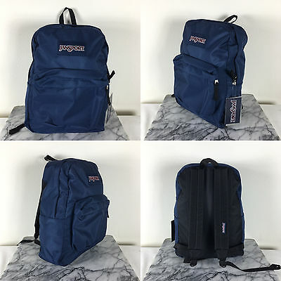 2016 Jansport Superbreak Backpack  Navy 100% AUTHENTIC School Dark Navy Book