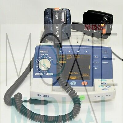 Philips Heartstart Xl Defibrillator M4735a And M1722-84520 Paddles