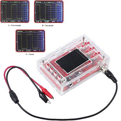 Dso138 Fully Welded 2.4 Tft Digital Oscilloscope 1mspsprobe Kit Clear Case