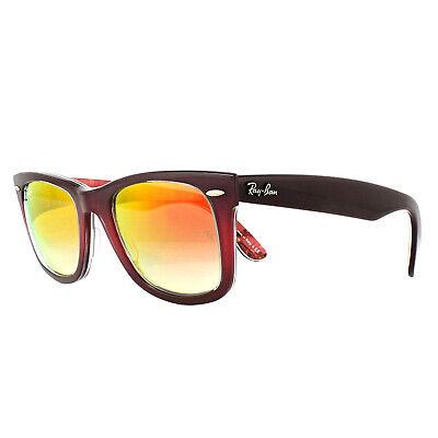 Ray-ban Sonnenbrille Wayfarer 2140 12004W Pink Neu Braune Blumenmuster Orange M