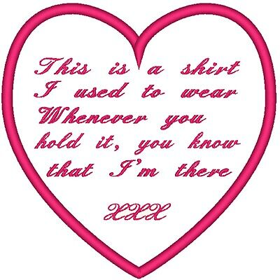 THIS IS A SHIRT I USED TO WEAR memory keepsake cloth sublimation printed labels