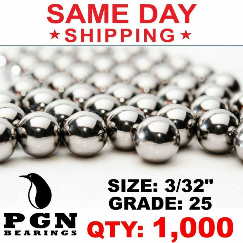 "1000 QTY 3/32"" Inch G25 Precision Chrome Steel Bearing Balls Chromium AISI 52100"