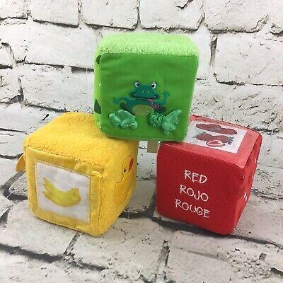 Baby Einstein Plush Blocks Soft Developmental Sensory Toys Lot Of 3