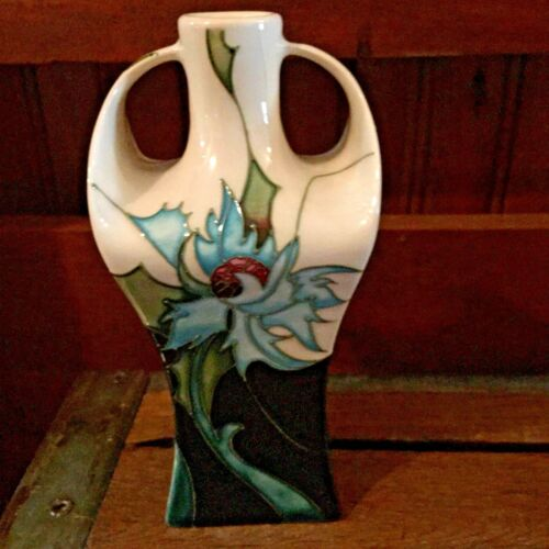 "MOORCROFT POTTERY ""SEA HOLLY"" 23216.  2006 NIB (B)"