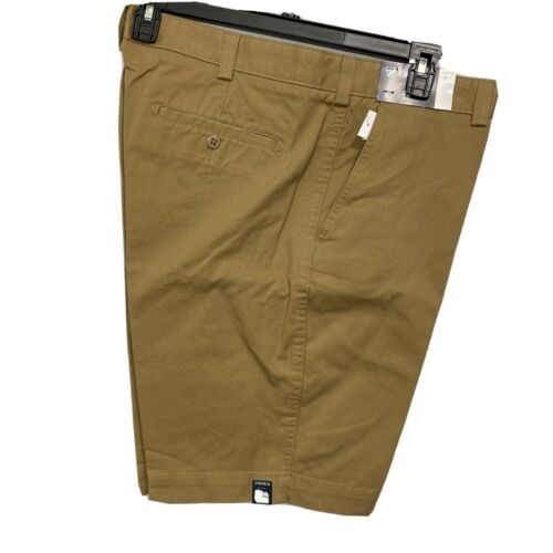 """Cremieux Mens Chino Shorts Tribeca 40 Flat Front 10"""" Inseam Khaki Chino NWT Golf Clothing, Shoes & Accessories"""