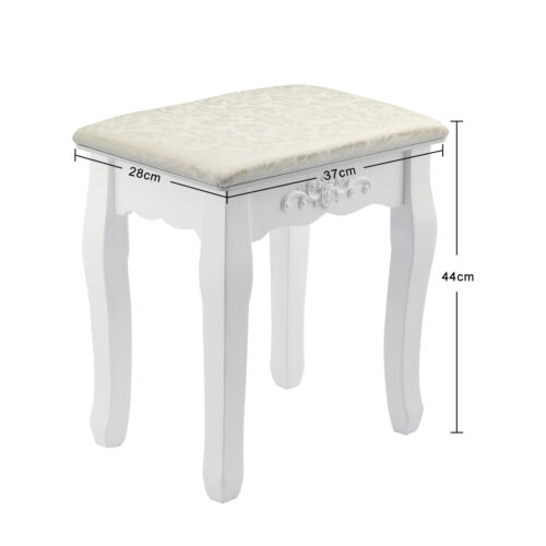 blanc coiffeuse tabouret si ge rembourr rose baroque vintage piano commode ebay. Black Bedroom Furniture Sets. Home Design Ideas
