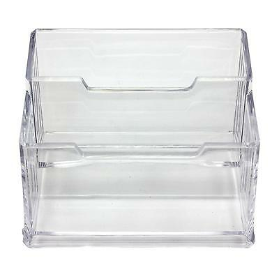 Office Clear Acrylic Desk Business Card Holder Stand Display Case Organiser Hot