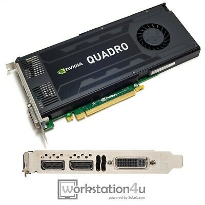 NVIDIA Quadro K4200 4GB Ram CAD Grafikkarte SolidWorks Catia Autocad 3 Monitore