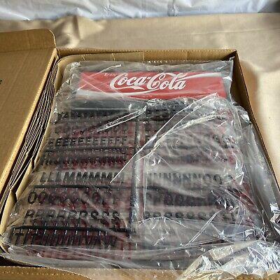 Vintage Coca-Cola Menu Board Sign NOS W/ Letters