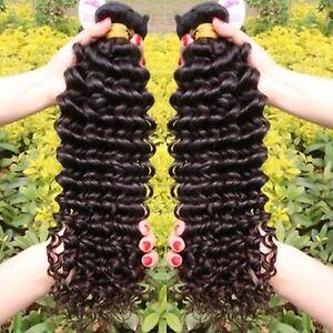 Echthaar tressen 100% Brazilian Hair Brasilianische Tresse  100g  45 cm lockig