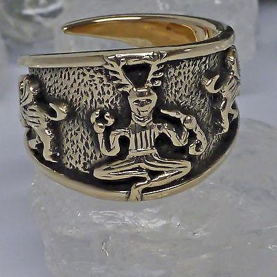 verstellbar Keltenring  Bronze Gr. groß  60-70 Cernunnos Kessel von Gundestrup