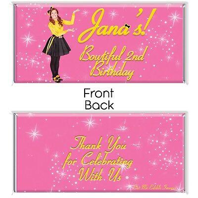 Emma Yellow Wiggle Theme Chocolate Wrappers Printable Digital - Print At Home ()