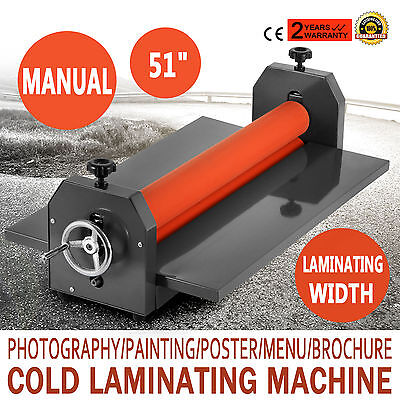 51 Laminating Manual Mount Machine Cold Photo Vinyl Film Hobby Craft Laminator 1