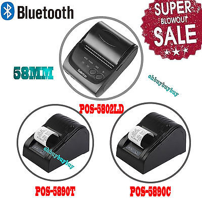 Wireless Bluetooth Usb Thermal Receipt Printer 58mm Line Mobile Pos Android Ekoi
