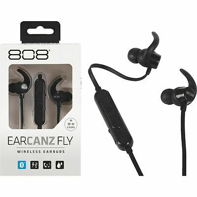Voxx 808 EarCanz Fly Bluetooth Wireless Earbuds - Black - Water Resistant HPA201