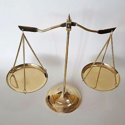 Room Decorate Brass Justice Vintage Scales Ornate Scale Base Balance Antique