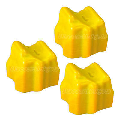 3pk Yellow Solid Ink For Xerox Phaser 8560 108r00725