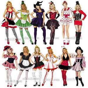 Donna-Costume-Set-Cheerleader-FOLLETTO-DA-MOTO-cappuccio-taglie-XS-XL