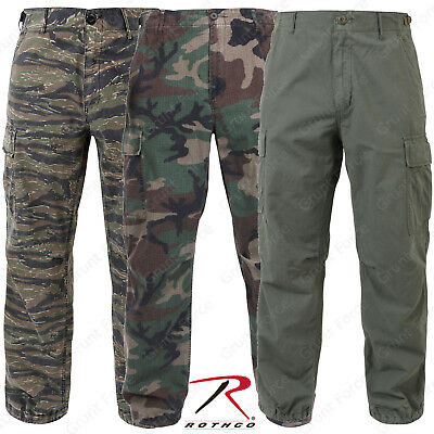 (Rothco Vintage Vietnam Style Fatigues - Men's Military Type Rip-Stop Pants)