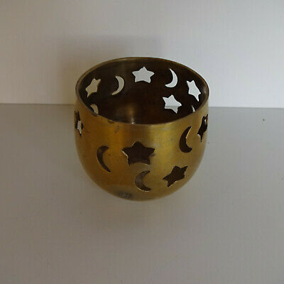 Tea Light Holder Brass With Stars And the Moon