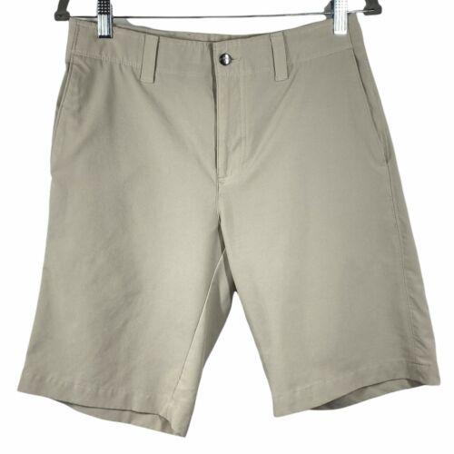 Callaway Mens Tan Slash Pockets Button Comfort Golf Chino Shorts Size 30