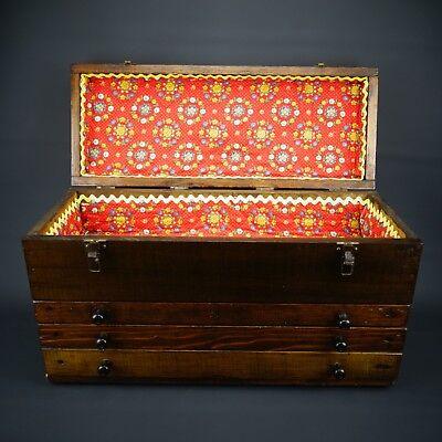 Repurposed Sewing Cabinet Primitive Handmade Carpenters Farmers Wood Tool Box
