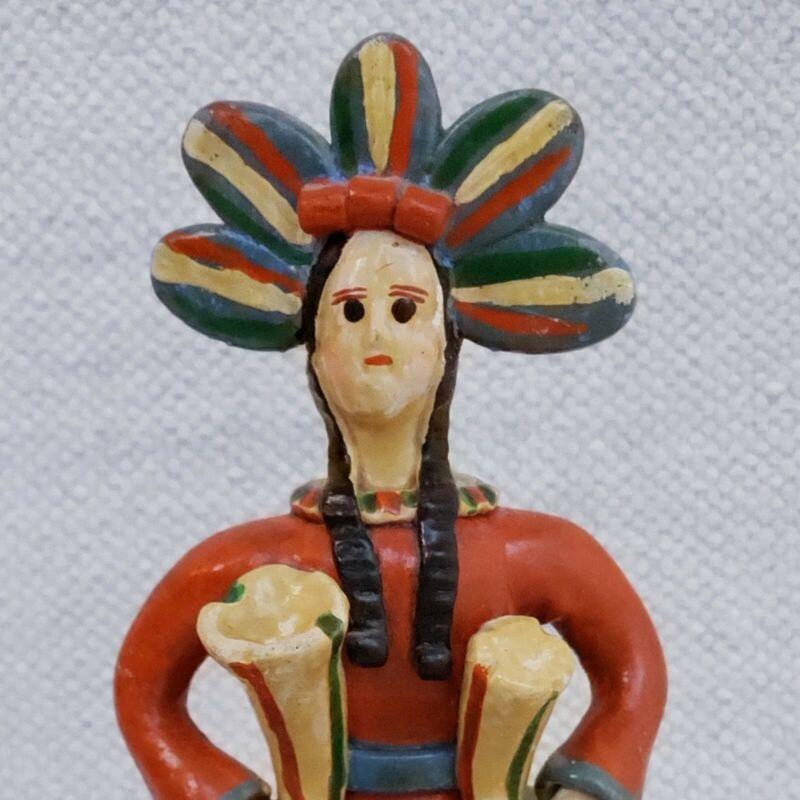 Vintage Folk Art Estremoz Pottery Doll José Marcelino Moreira Clay Bonecos