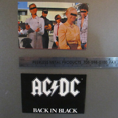 AC/DC (Rock Band) Flexi-Magnets; Lot of 2; 'Back in Black' and 'Dirty Deeds'