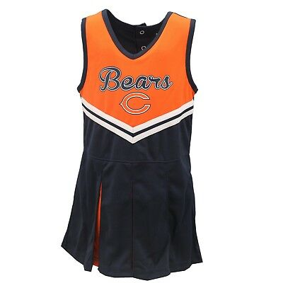 - Chicago Bears NFL Infant & Toddler Cheerleader Outfit with Bottoms Combo Set New