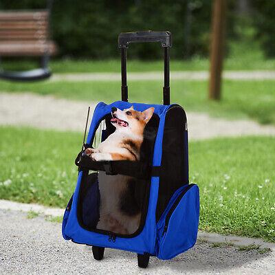 Hundetrolley Transporttasche Tragetasche Tiere 2in1 Rucksack Trolley