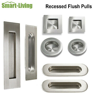 Rectangle/Square/Round Kitchen Cabinet Recessed Flush Pull Sliding Door Knobs
